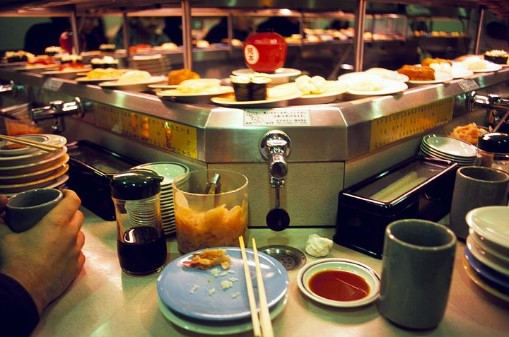 Kaiten Sushi in Giappone