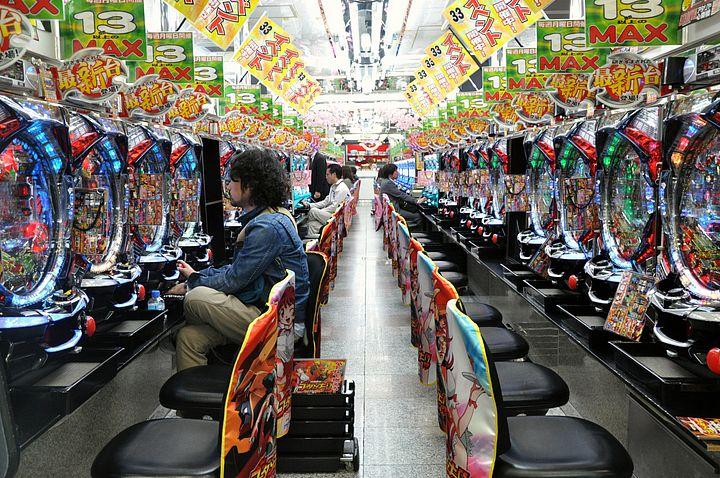 In una sala di Pachinko