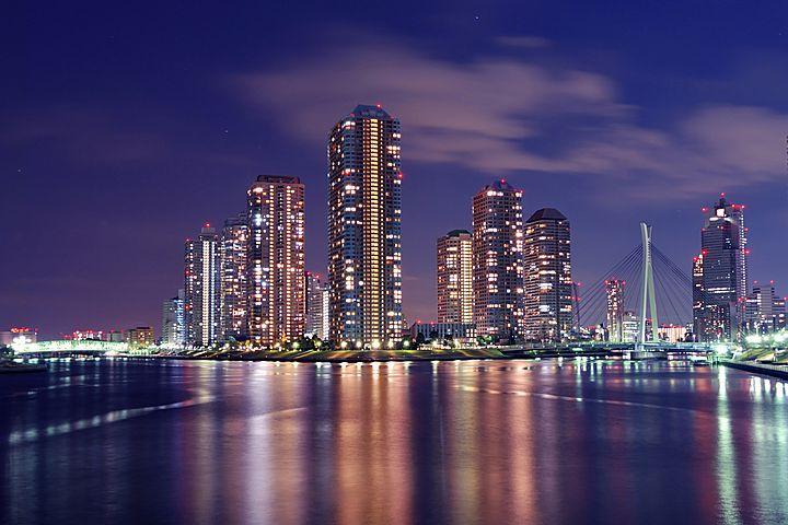 La vista del quartiere di Tsukishima