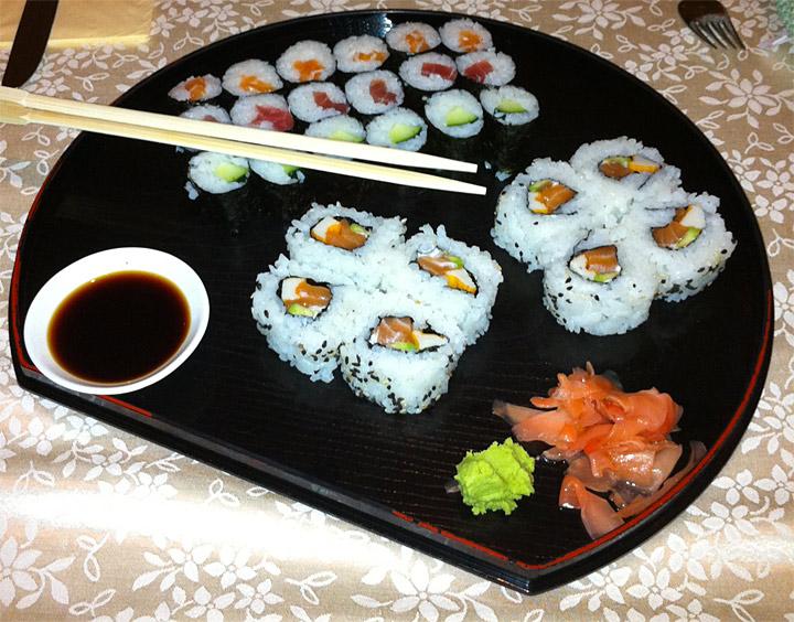 Piatto di sushi del Grissino di Bressanone