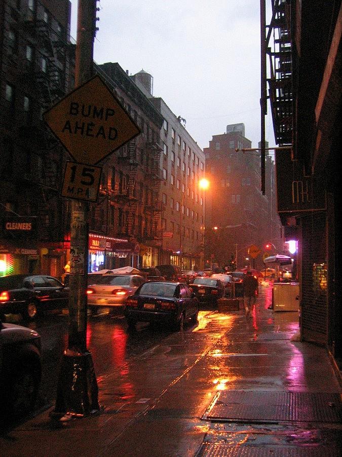 New York con la pioggia