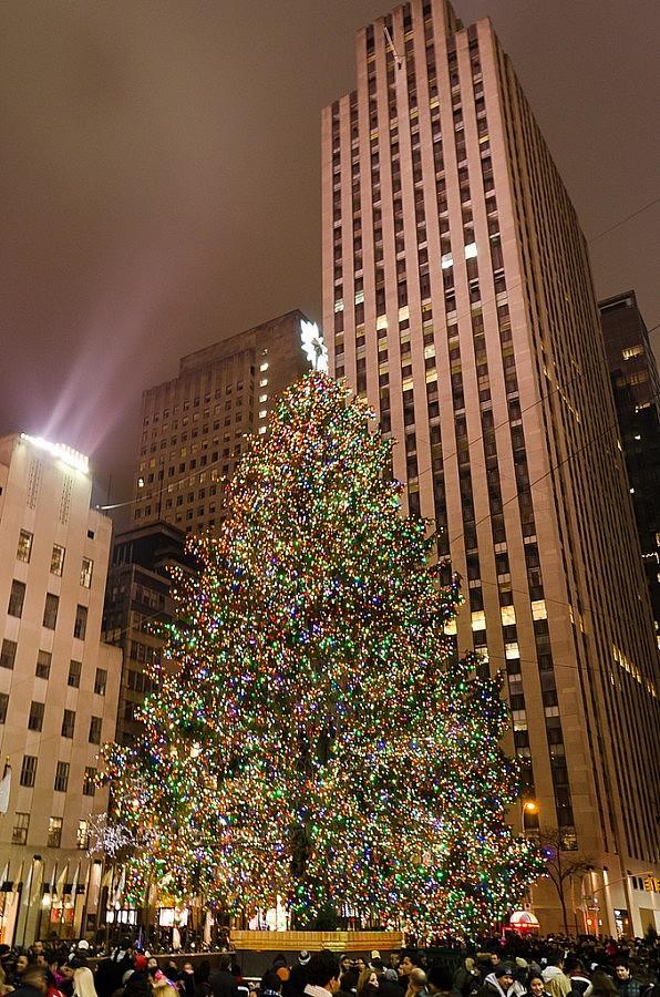 Albero Di Natale New York.Albero Di Natale A New York