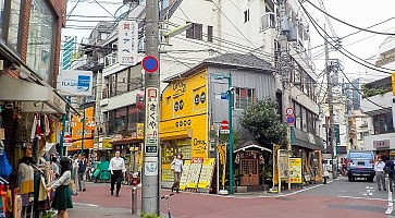 Tokyo, Japan - October 28, 2014 :Shimokitazawa district.Shimokitazawa district is famous for independent fashion shops, cafes, decorations, and theaters.
