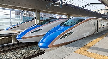 E7/W7 Series bullet (High-speed or Shinkansen) trains.