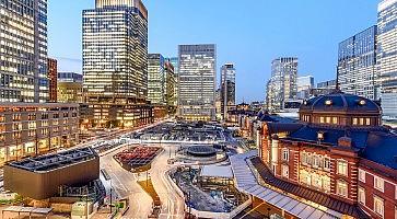 Tokyo station at marunouchi business