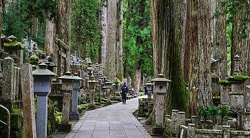 Okunoin Cemetery on Mt. Koya in Japan