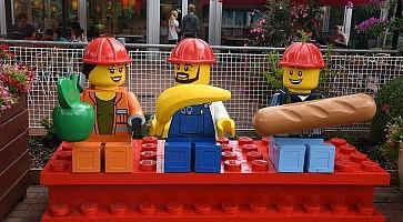 Visotor in Legoland in Billund Denmark.