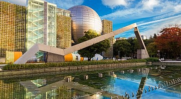 Nagoya, Japan - November 21 2015: Nagoya City Science Museum houses the largest planetarium in the world, it portrays life sciences and general science with a variety of hands-on exhibits