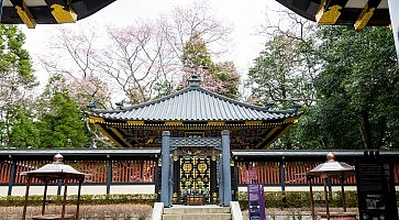 SENDAI, JAPAN - 12 april 2017, Japanese Traditional Architecture , Zuihoden was designed in the ornate carving style  is woodwork and a rich variety of vivid colors.