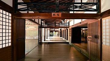 Mount Koya, Japan - June 13, 2011: Interior of Kongobuji temple