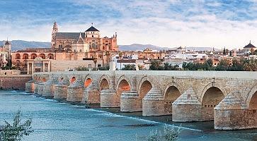Roman Bridge and Guadalquivir river, Great Mosque, Cordoba, Spain