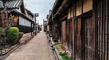 Japanese old traditional town Imaicho in Nara, Japan
