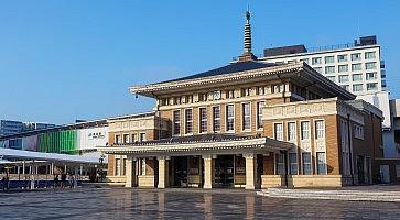 Nara, Japan - November 16 2013: Nara Station Operated by West Japan Railway Company and it's the main stop in the city of Nara on the Kansai Main Line.