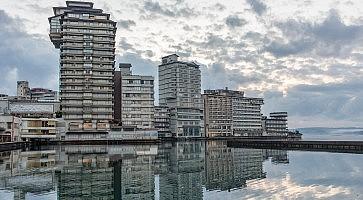 Resort hotels at Wakura Onsen, Japan